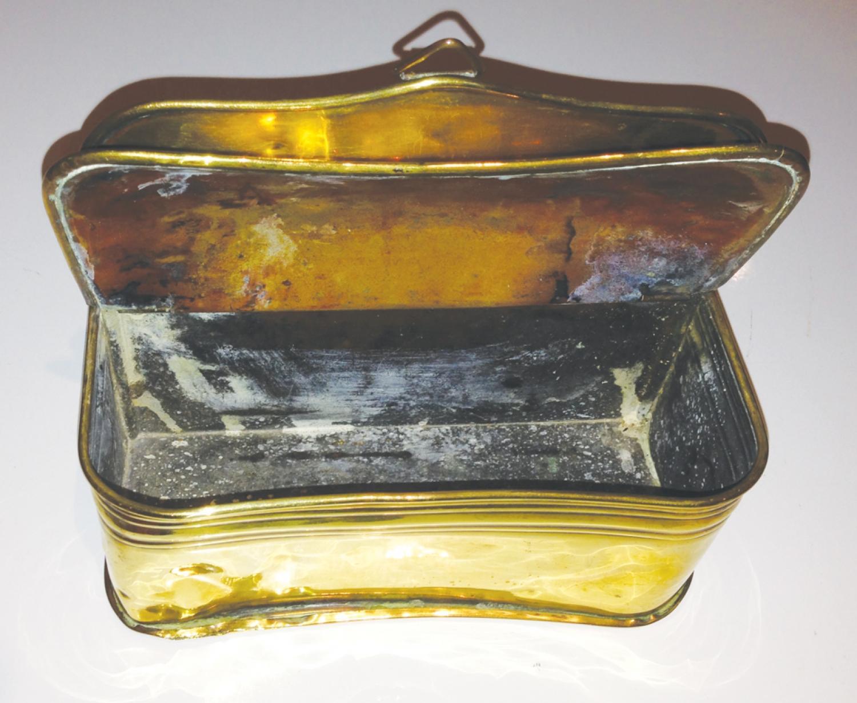 18th Cent Brass Spill box