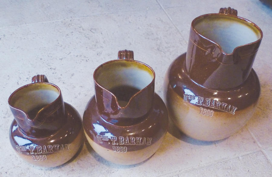Rare set of Jugs named and dated 1899