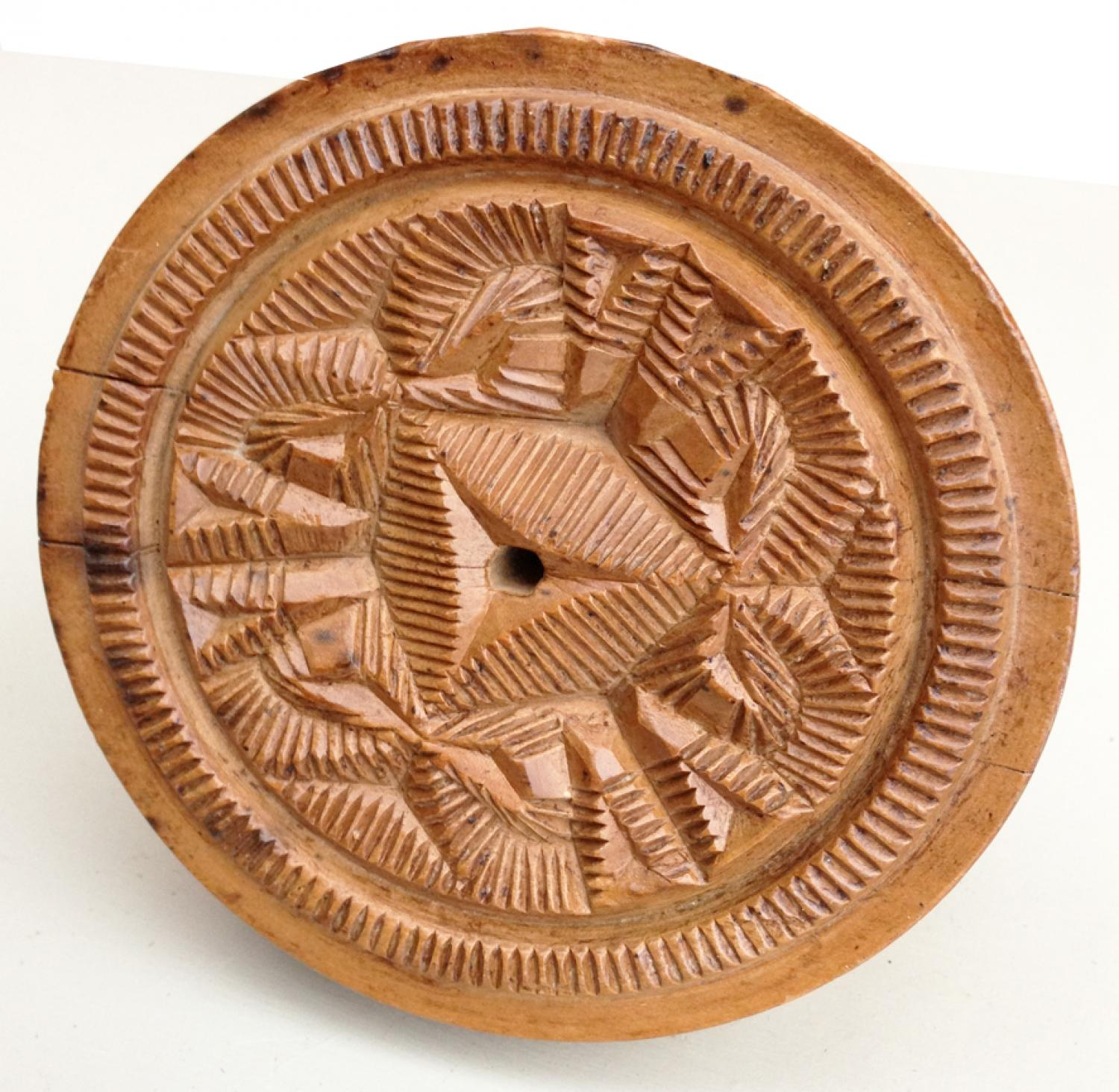 19th Cent Sycamore Butter Stamp