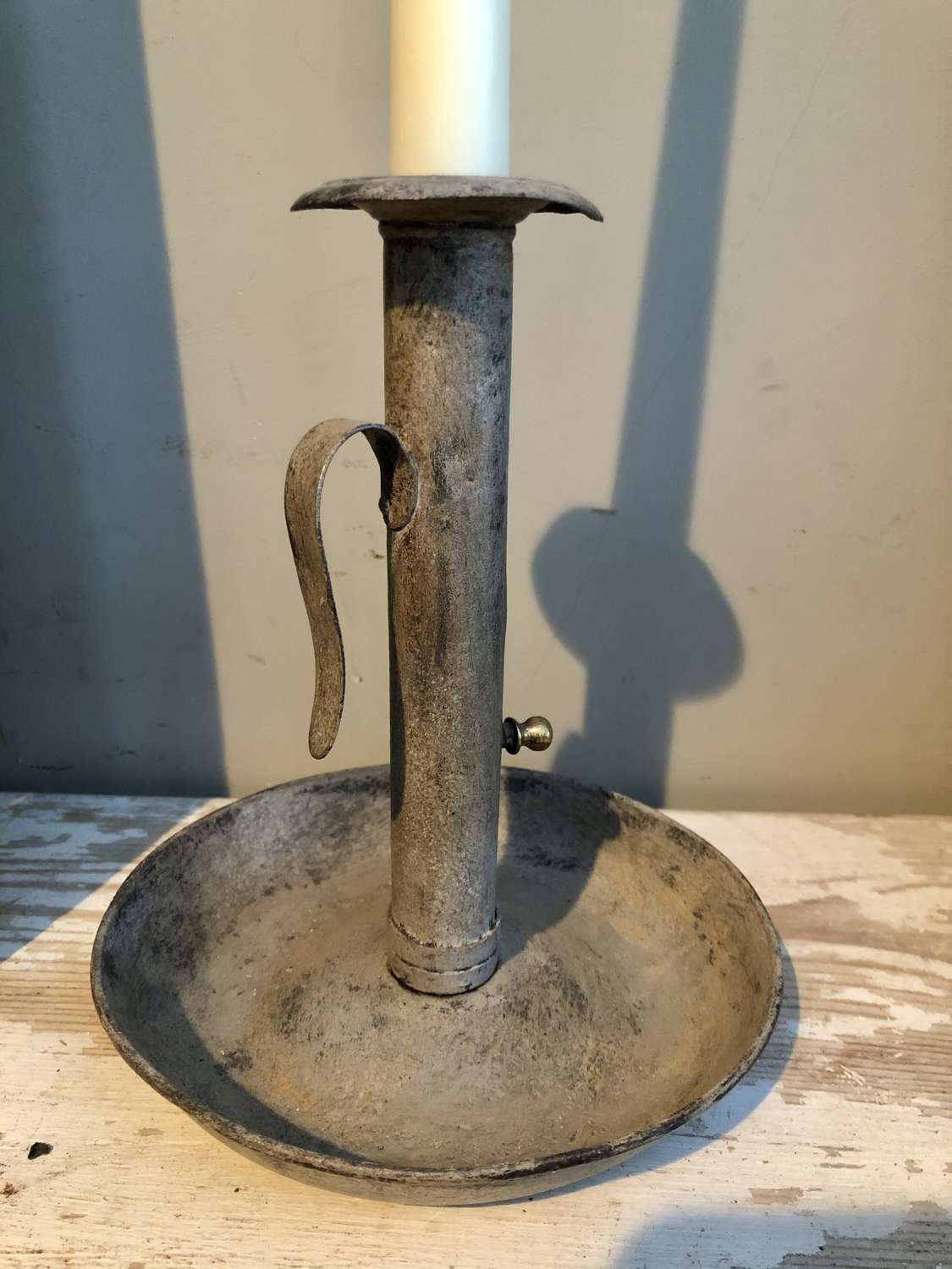19th Cent Hogscraper Candlestick