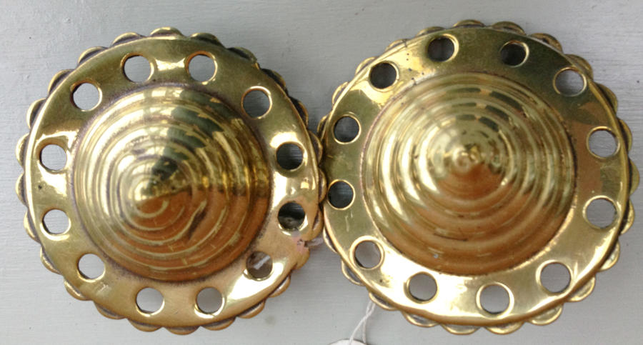 Pair Horse Brass Face Brasses