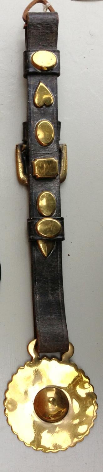 Antique Horse Brass on decorated Strap