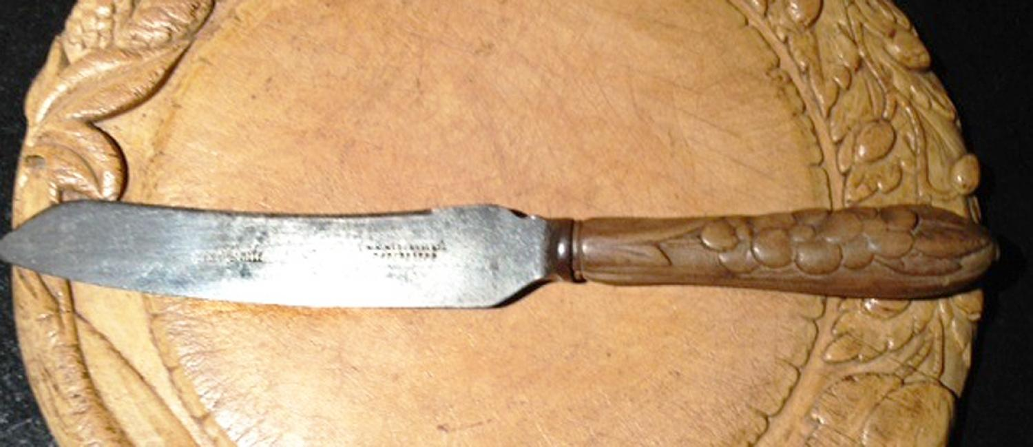 victorian bread knife in the antique kitchen victorian bread knife