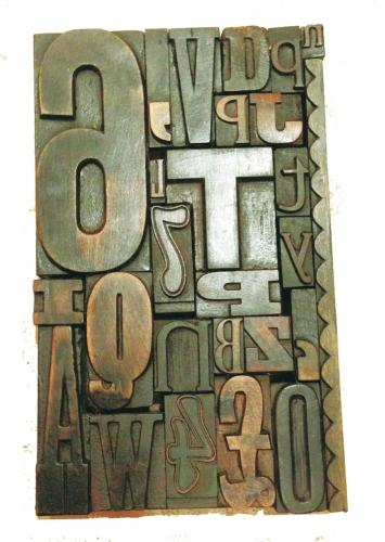 Antique Printers Block Picture