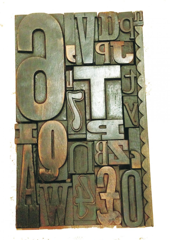 Antique Printers Block Picture