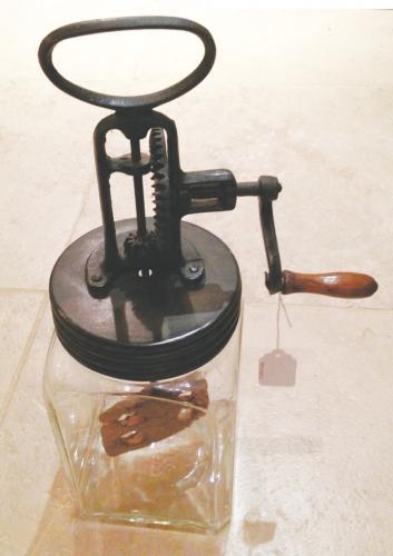 Vintage Glass butter Churn