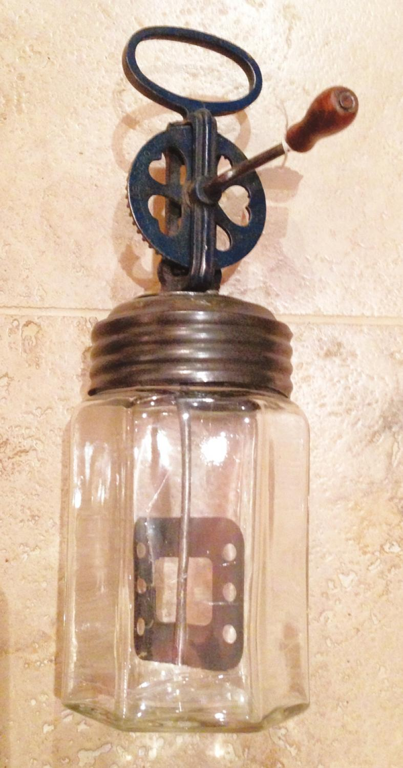 Small Size Vintage Glass butter Churn