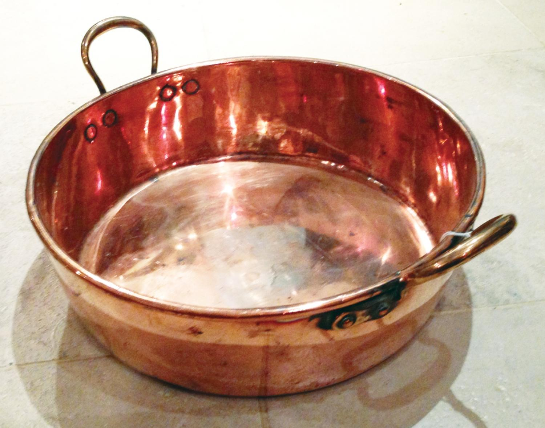 Large Copper Preserving Pan