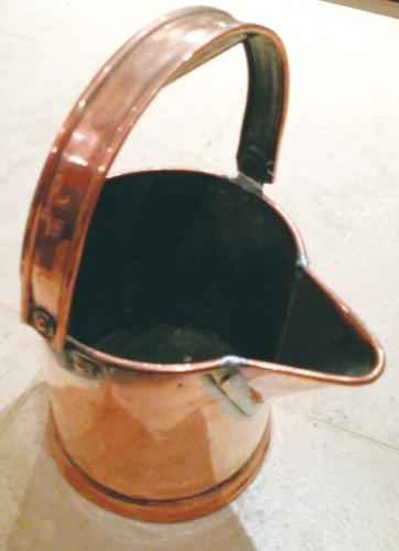 Copper Jug with folding handle