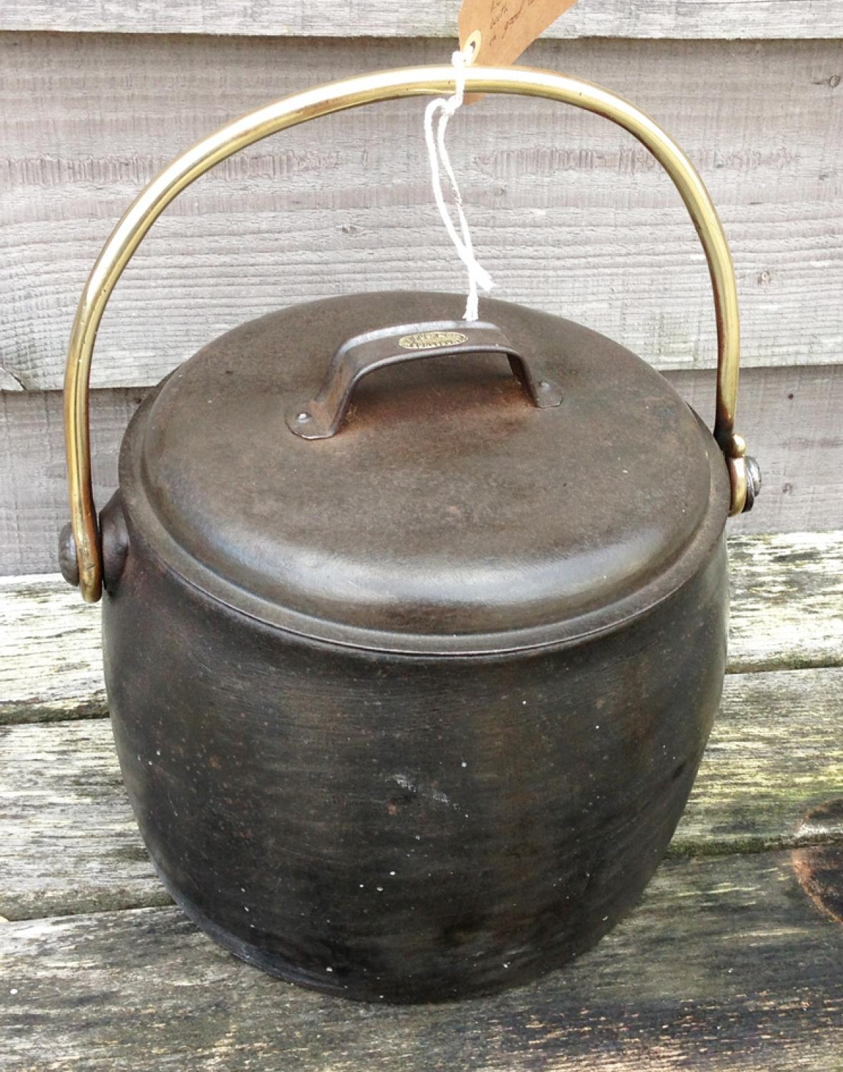 Pugh & Sons Stock Pot with Brass Handle