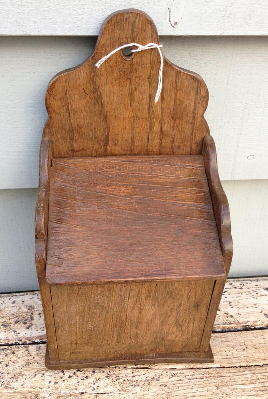Antique Oak Salt Box