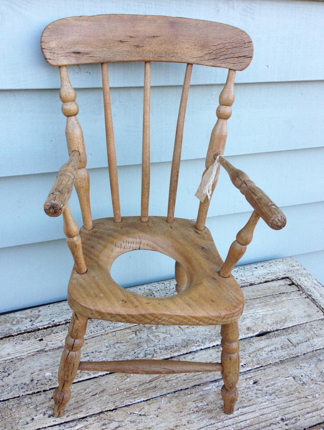 19th Cent Child's Comode Chair