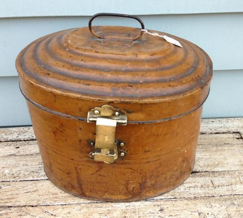 Large Victorian Tin Hat Box