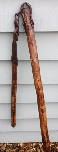 19th Cent Corn Flail