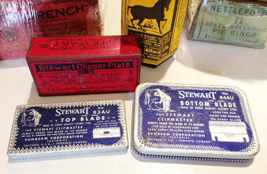 Vintage Stewart Sheep Clipper tins