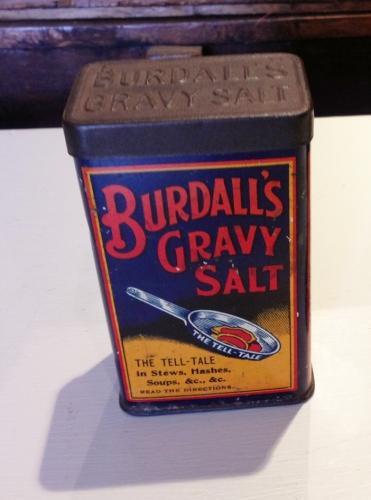 Vintage Burdall's gravy Salt Tin