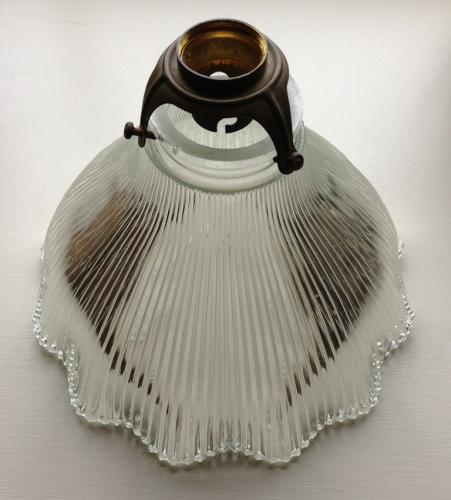 Antique French Glass Ceiling Light