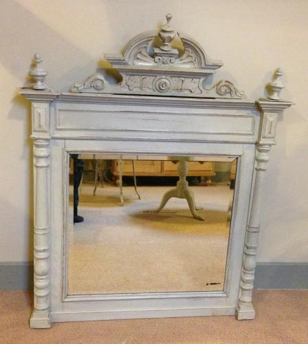 Antique French Painted Mirror