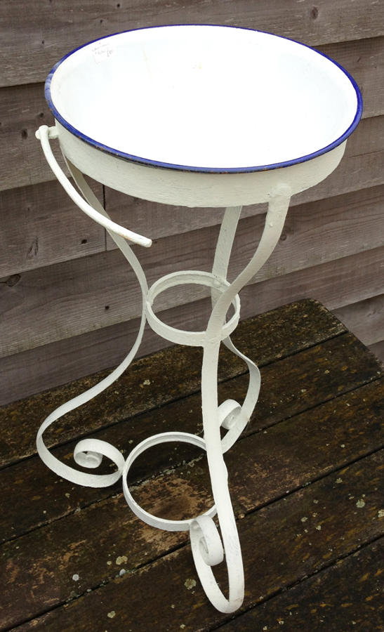 Victorian Iron wash stand & Enamel Bowl