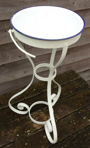 Victorian Iron wash stand & Enamel Bowl