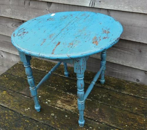 Blue Painted Coffee Table
