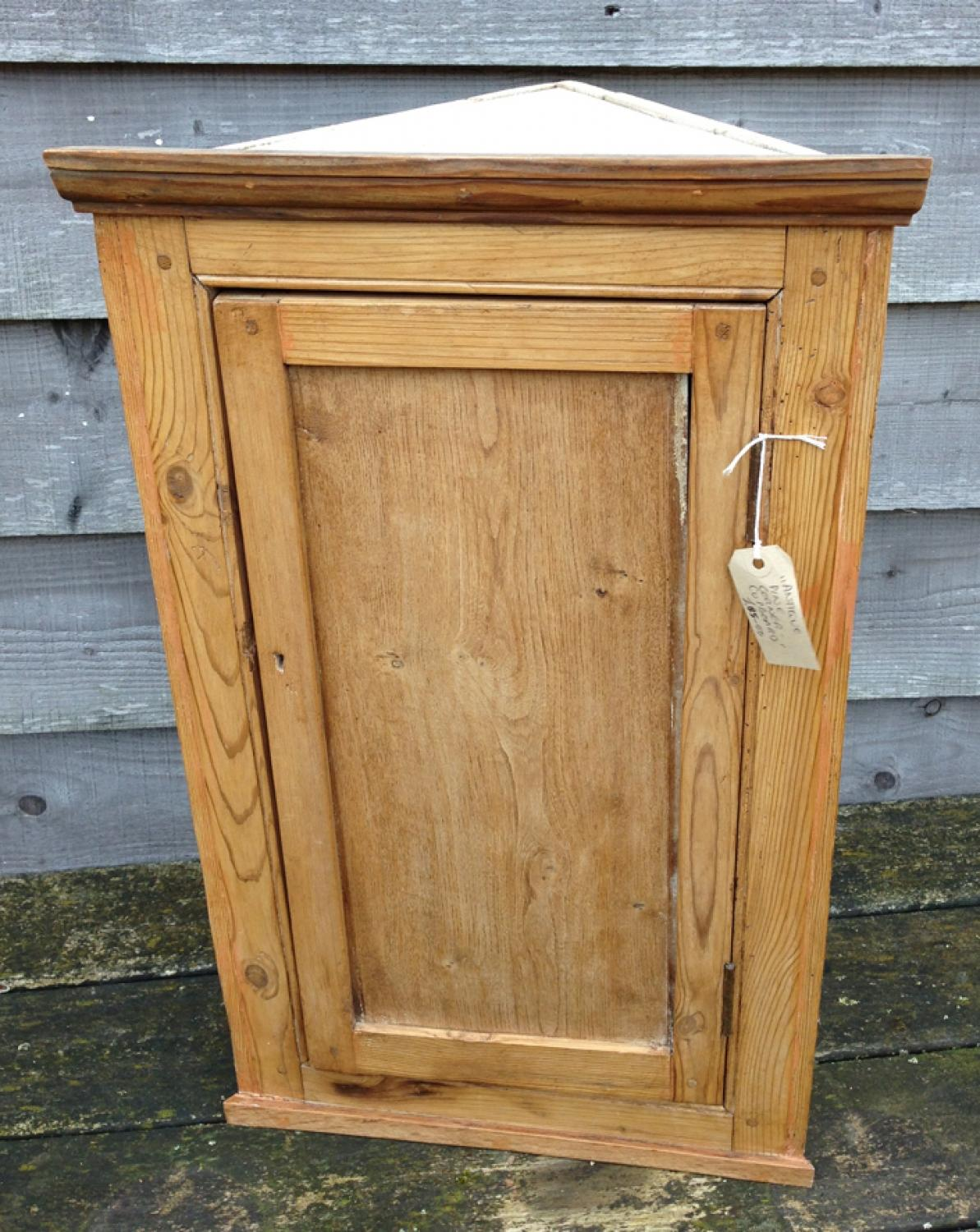 Antique Pine Corner Cupboard - Antique Pine Corner Cupboard In FURNITURE & BOXES