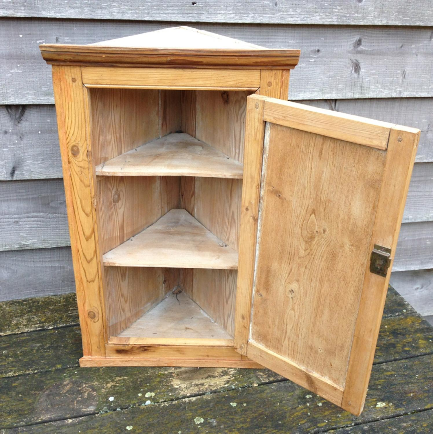 Antique Pine Corner Cupboard in FURNITURE