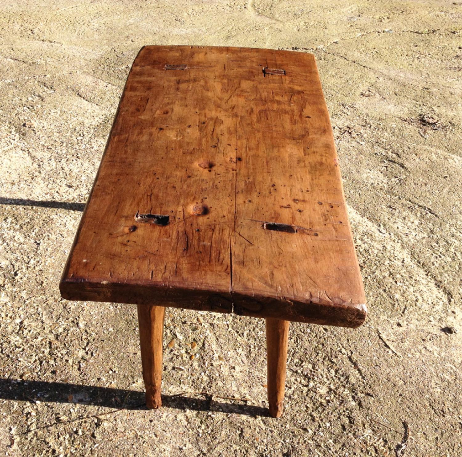 19th Cent Fruitwood Table