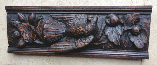 19th Cent Carved panel