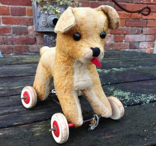 1930's Toy Dog on Wheels