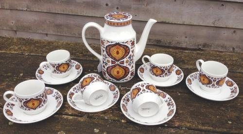 Vintage Midwinter Kismet Coffee Set