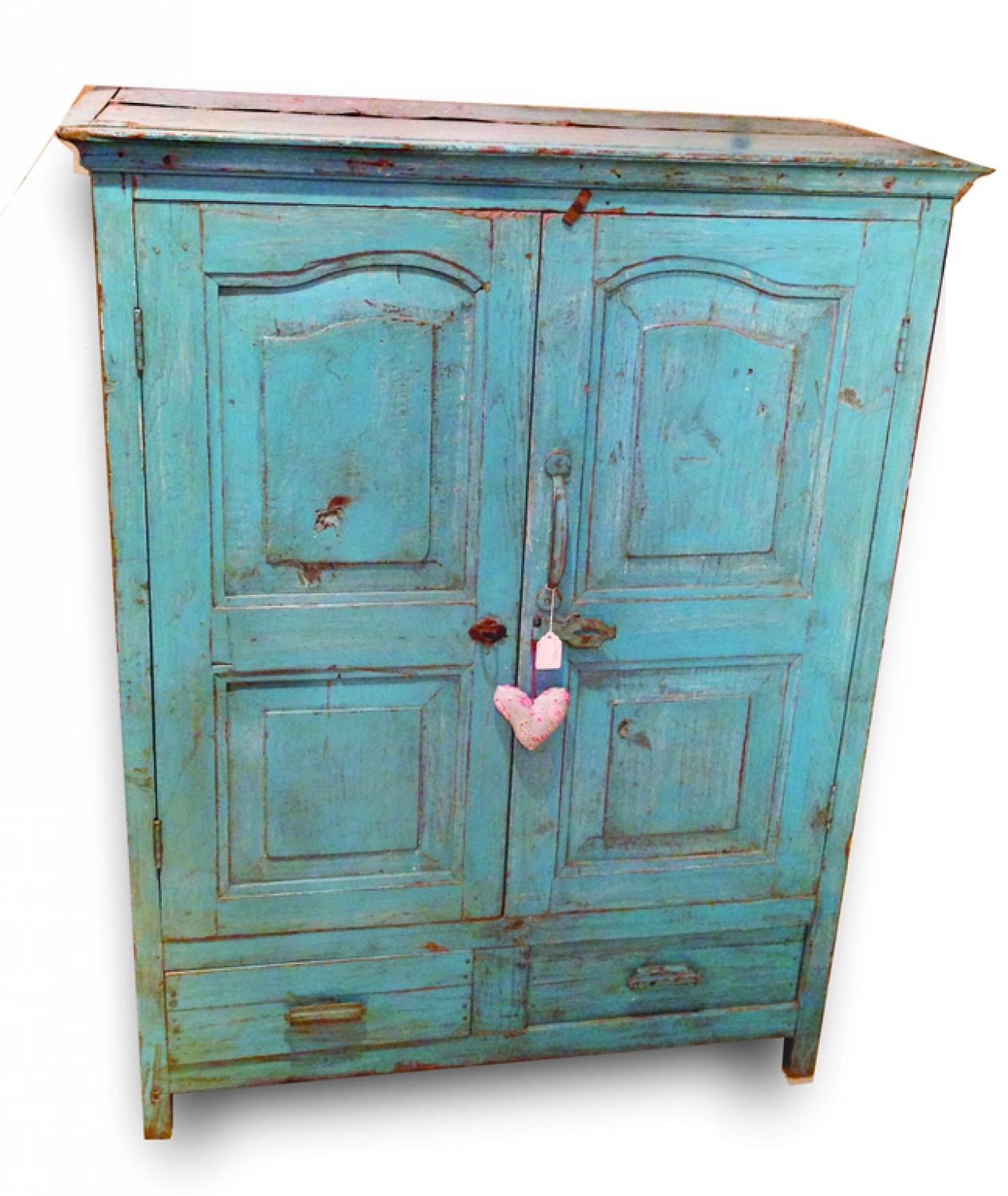 19th Cent Blue Cupboard