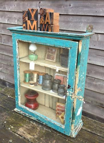 Small Blue and white cupboard