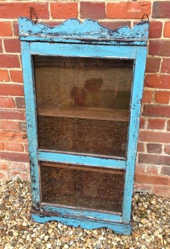 Larger antique Cupboard in Blue Paint