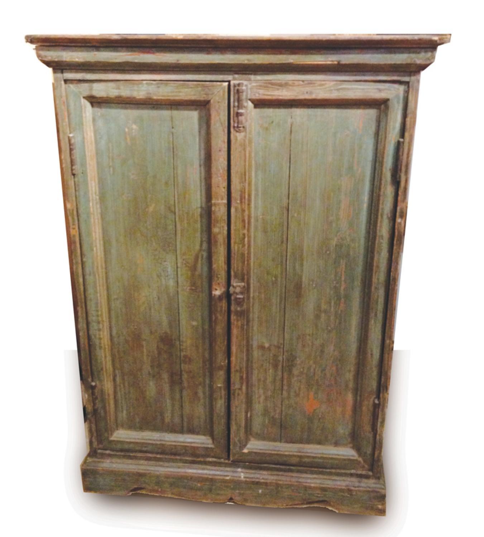 Antique Cupboard in Original Green Paint