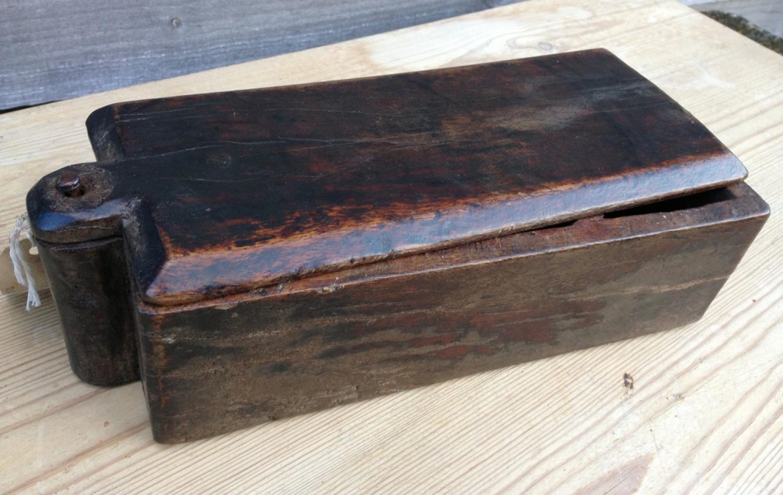 19th Cent Treen Spice Box