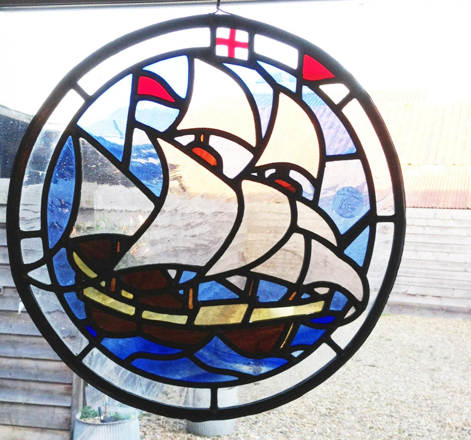 Round Stained Glass Panel