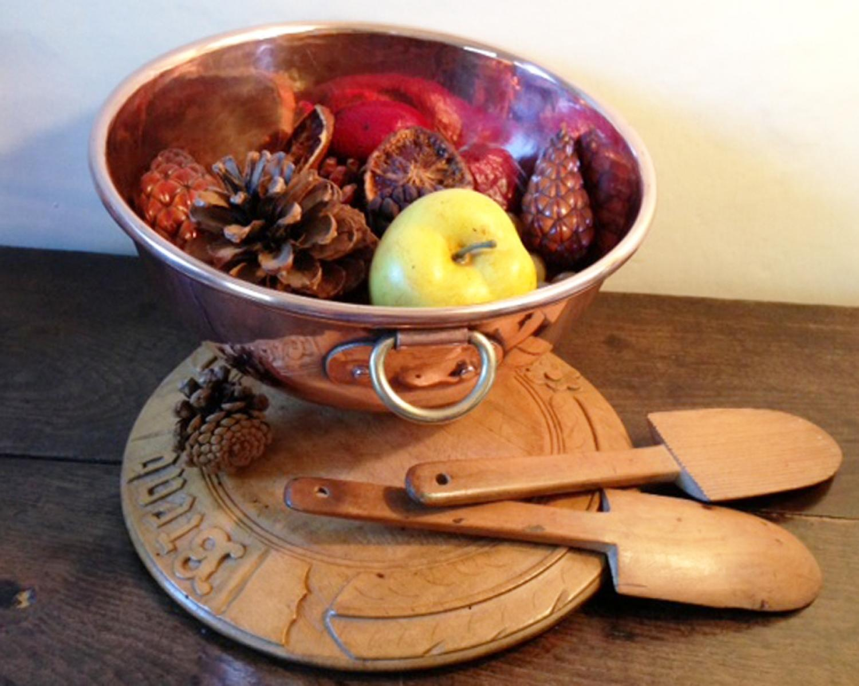 Antique Kitchen Copper Beating Bowl