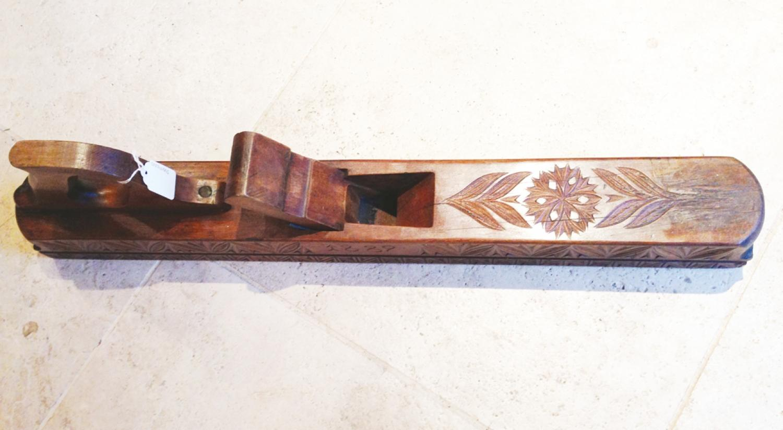 Antique Decorated Wood Plane