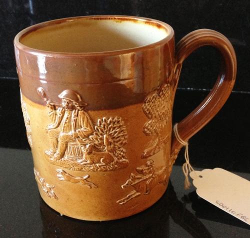 Victorian 1 Pint Doulton Lambeth Havest Mug