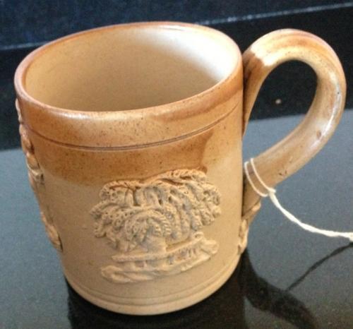 Vict 1/2 pint Salt glazed Harvest/Pub Mug