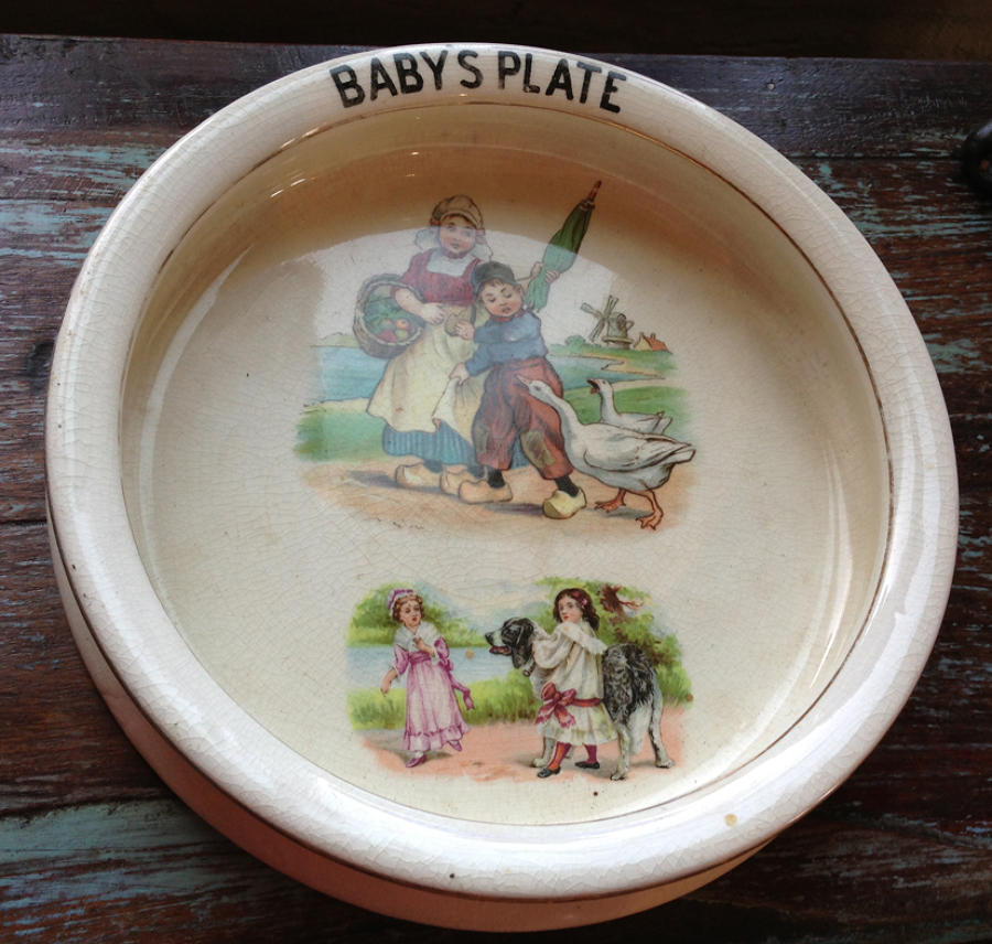 Antique Baby's Plate