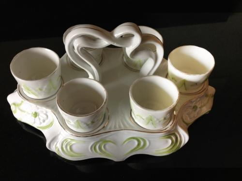 Edwardian Egg Stand with Egg Cups
