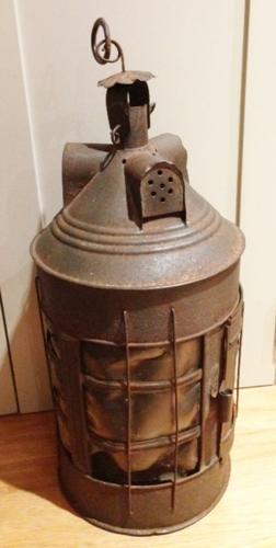 Large 19th Cent Shepherd's Horn Lantern