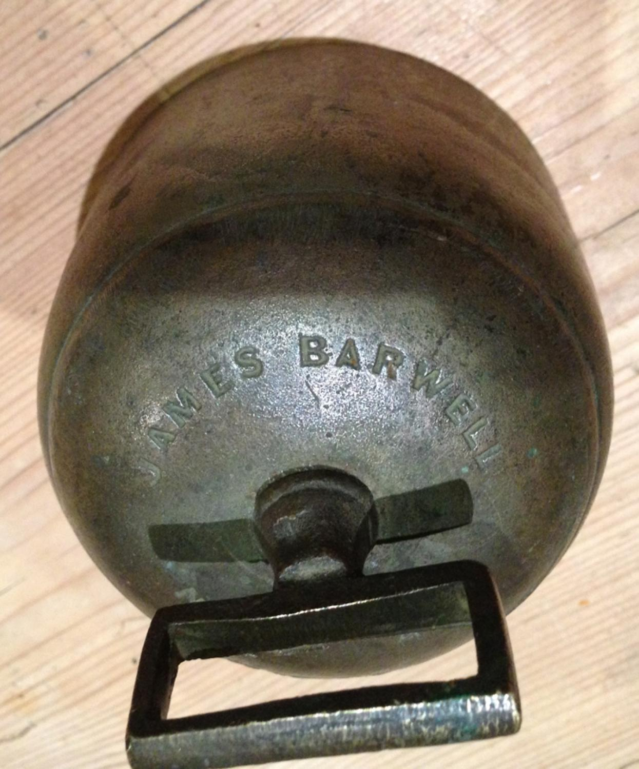 Rare Large 4 inch bronze Cup Sheep Bell James