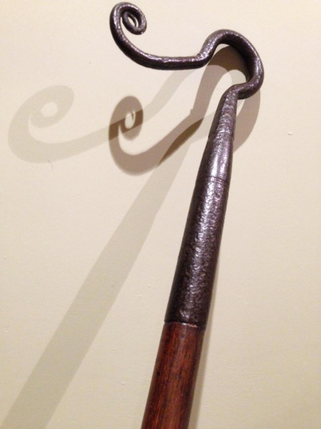 Exceptional 19th Cent Gun Barrel Crook