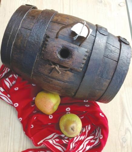 Large 19th Cent Harvest Barrel