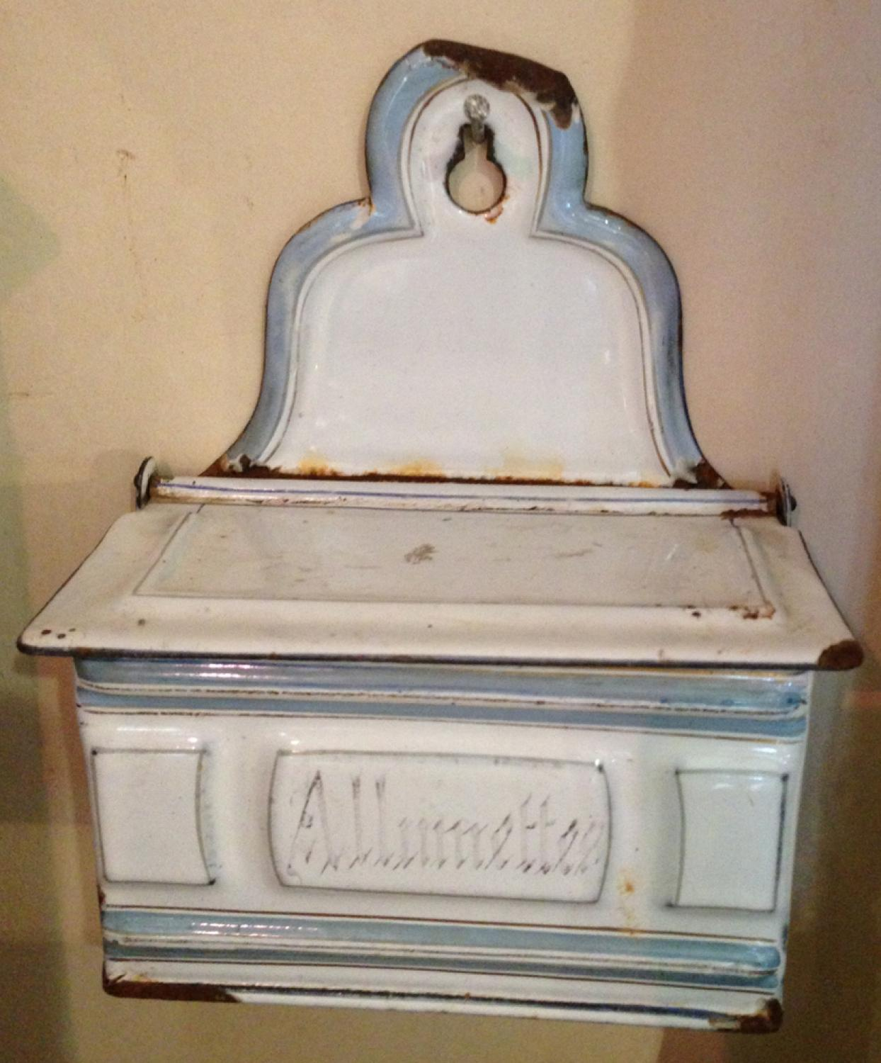 French Enamel Match holder