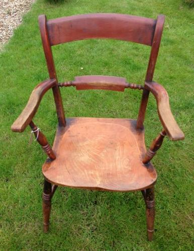 19th Cent Elm Country Chair