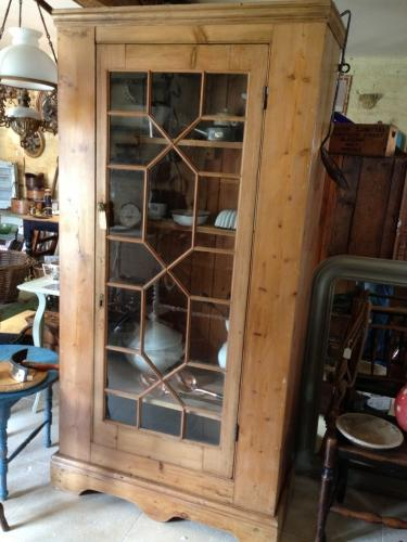 Attractive Victorian Pine Glazed Cupboard